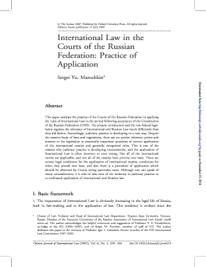 International Law in the Courts of the Russian Federation: Practice ... - chinesejil oxfordjournals