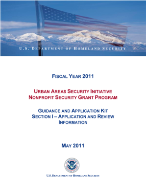 FISCAL YEAR 2011 URBAN AREAS SECURITY INITIATIVE NONPROFIT SECURITY GRANT PROGRAM - fema