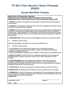 Sample Grant Mou Fema - Fill Online, Printable, Fillable, Blank ...