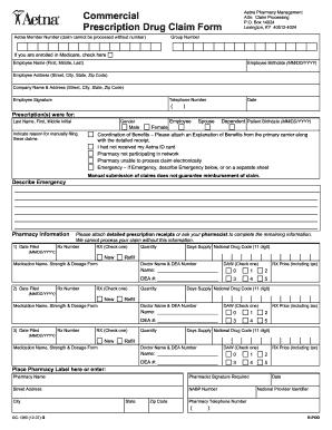 Aetna Rx Reimbursement Form - Fill Online, Printable, Fillable ...