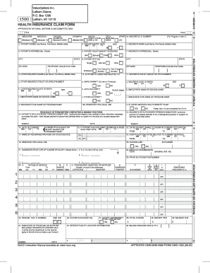 medical claim form 1500 Templates - Fillable & Printable Samples ...