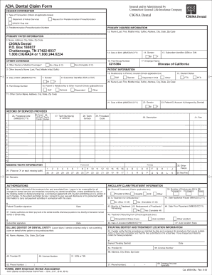 fax number for cigna dental claims form