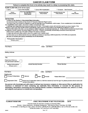 Aflac Sickness Claim Form - Fill Online, Printable, Fillable ...