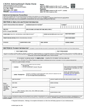 cigna international claim form
