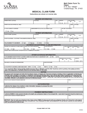 Samba Claim Form - Fill Online, Printable, Fillable, Blank | PDFfiller
