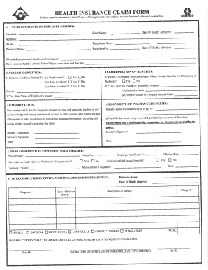 Clico Medical Claim Form - Fill Online, Printable, Fillable, Blank on workers' compensation claims forms, change of address form, medical insurance form sample, medical physical exam form, hipaa patient consent forms, income tax forms, medical history form, direct deposit form, cash register forms, agreement forms, medical coding, personal injury forms, medical examination form, enrollment form, medical id cards, medical questionnaires, medical insurance verification form, medical clearance for surgery form, medical certificates, medical consent form, veterans administration forms, hipaa authorization form, quick claim deed, prior authorization forms, medical insurance coverage, authorization form,