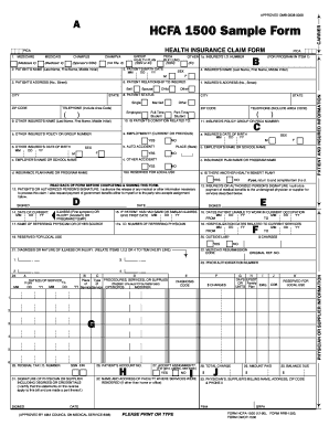 Form Hcfa1500 - Fill Online, Printable, Fillable, Blank | PDFfiller
