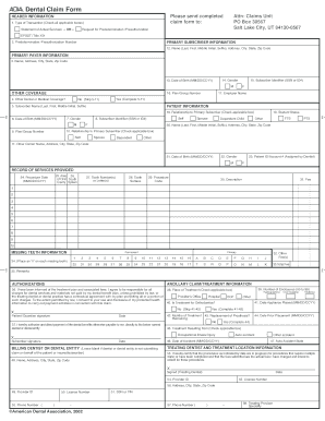 Ada Dental Claim Form Fillable - Fill Online, Printable, Fillable ...
