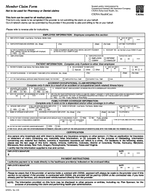 Out of Network Reimbursement Medical Claim Form - eip sc
