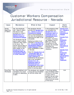 Nevada Workers Compensation Forms D8 - Fill Online, Printable ...