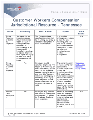 Bill Of Sale Form Tennessee Workers Compensation Insurance