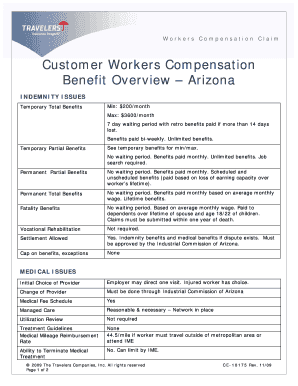 Travelers Insurance Workers Compensation Form For Temporary Fill Online Printable Fillable
