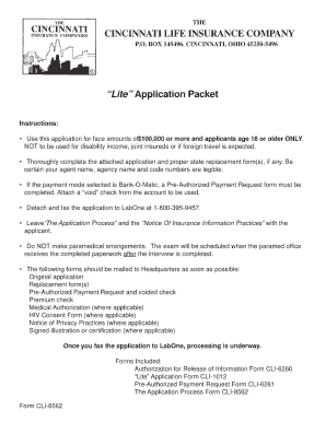 Cincinnati Life Replacement Forms - Fill Online, Printable ...