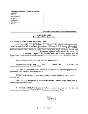 Massachusetts Quit Claim Examples - Fill Online, Printable ...