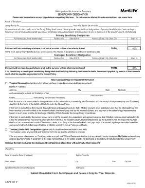 Metlife Life Insurance Forms - Fill Online, Printable ...