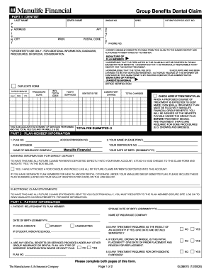 Manulife Benefits Forms Printable - Fill Online, Printable ...