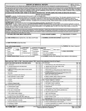 2011 Form DD 2807-1 Fill Online, Printable, Fillable, Blank ...