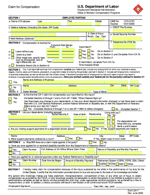 Workers Compensation Form Ca7 - Fill Online, Printable, Fillable ...