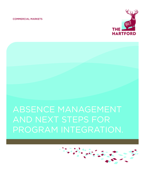 Absence Management and Next Steps for Program  - The Hartford