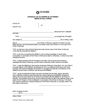 Affidavit Power Of Attorney - Fill Online, Printable, Fillable ...