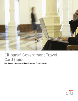 Citibank Government Travel Card Online Training