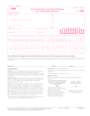 form 1096 fillable