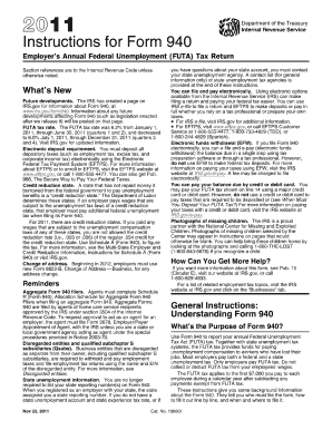 2011 form 940 instructions