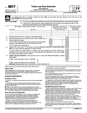 2011 Form IRS 8917 Fill Online, Printable, Fillable, Blank - PDFfiller
