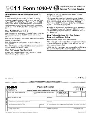 Form 1040 V 2010 - Fill Online, Printable, Fillable, Blank   PDFfiller