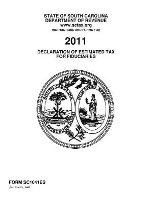 South carolina state fillable tax forms 2011