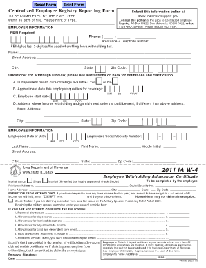 2012 Ia W 4 Fillable - Fill Online, Printable, Fillable, Blank ...