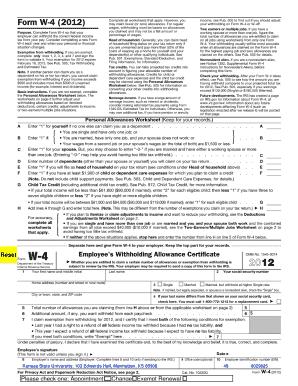 W4 Kansas - Fill Online, Printable, Fillable, Blank | PDFfiller