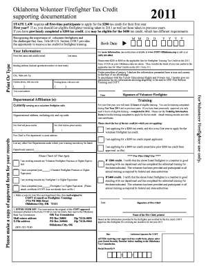 Fillable 2011 State Of Oklahoma Form 511 - Fill Online, Printable ...