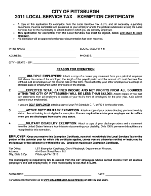 Fillable Pitsburgh City Form - Fill Online, Printable, Fillable ...