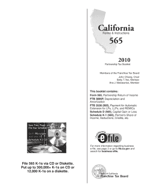 Ca Form 565 Booklet - Fill Online, Printable, Fillable, Blank ...