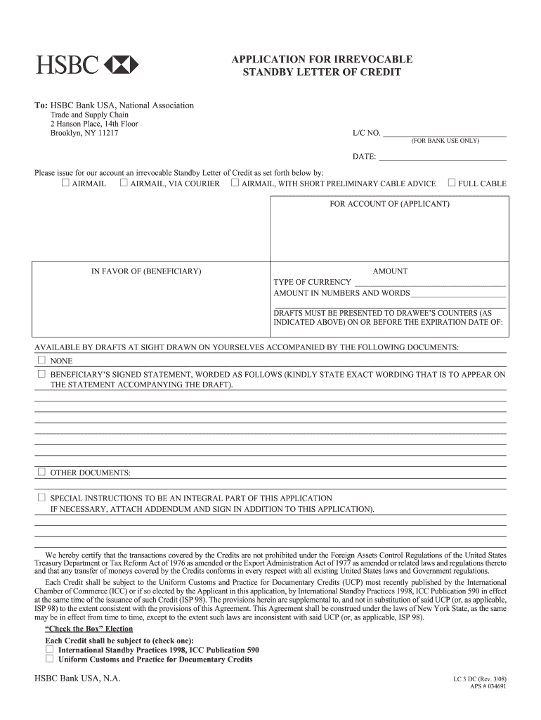 Blank Letter Of Credit - Fill Online, Printable, Fillable