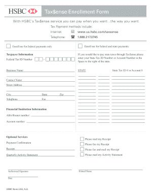 Tax$ense Enrollment - Fill Online, Printable, Fillable, Blank