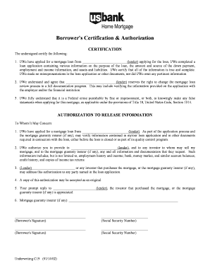 Borrowers Certification And Authorization Fillable - Fill Online ...
