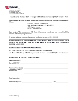 Us Bank Form W 9 - Fill Online, Printable, Fillable, Blank | PDFfiller