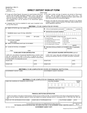 standard form 1199a  Treasury Department Form 5 - Fill Online, Printable ...
