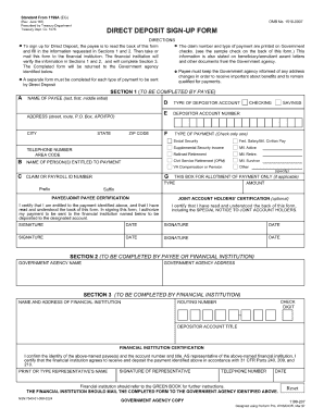 standard form 1199a (eg) Templates - Fillable & Printable Samples ...