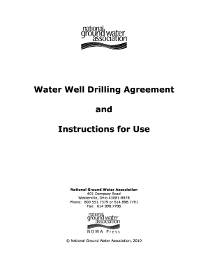 borehole drilling agreement form