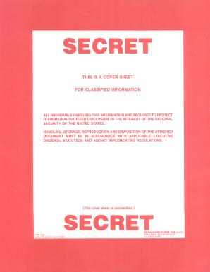 editable sf 704 secret cover sheet pdf fill online printable