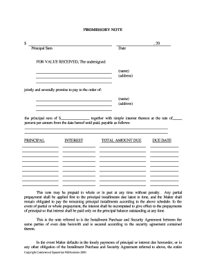 north carolina promissory note horse equine forms