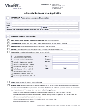 Indonesia Visa Application Form No Download Needed Pdf Fill Online Printable Fillable Blank Pdffiller