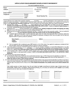 Unemployment Deferment Application Print Out - Fill Online ...