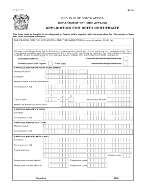 Bi 154 Birth Certificate  Online Birth Certificate Maker