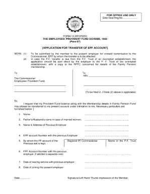 Pf transfer form 13 how to fill fill online, printable, fillable.