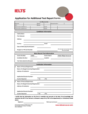 application for the issue of additional trfs form