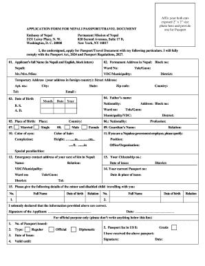 Nepali Pp Form - Fill Online, Printable, Fillable, Blank   PDFfiller